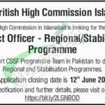 British High Commission Islamabad Jobs 2018
