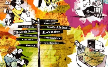 Work Abroad Ilustration