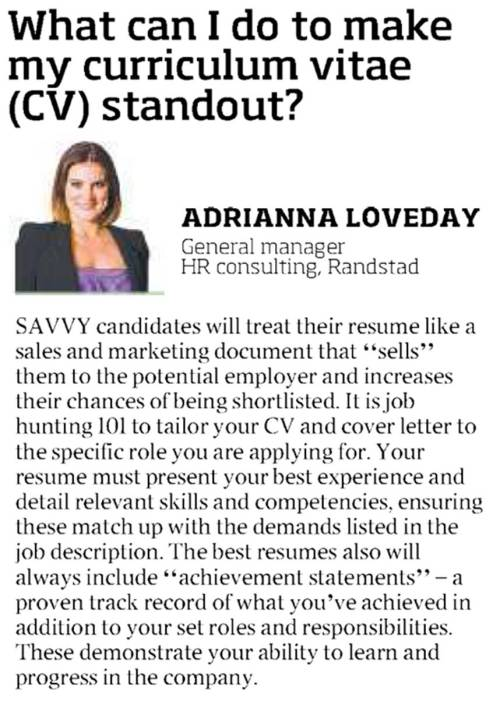 How To Make A Good Resume - cv standout