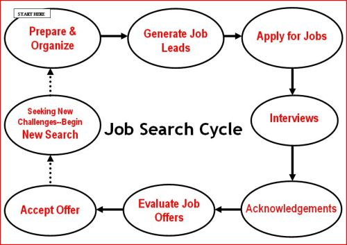 Best Job Search Strategies - Industry Job Search Cycle