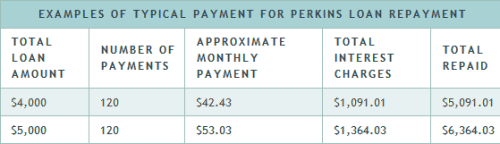 Federal Perkins Loan interest rate example