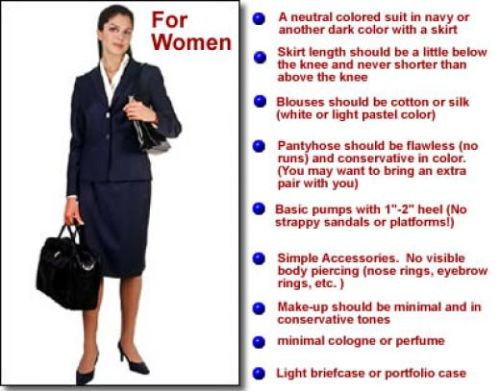 What to wear for an interview for women