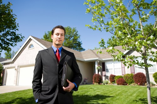 Young real estate agents