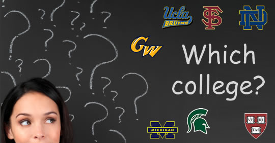 how to pick a college