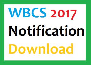wbcs 2017 notification exam date