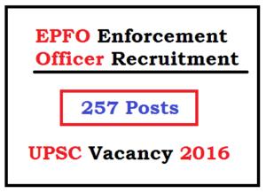 upsc enforcement officer recruitment epfo