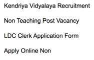 kvs non teaching post recruitment 2018 2017 application form ldc clerk vacancy jobs latest kv sangathan kendriya vidyalaya
