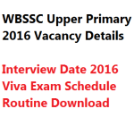 WBSSC Upper Primary Interview Date 2018 Verification Call Letter Admit