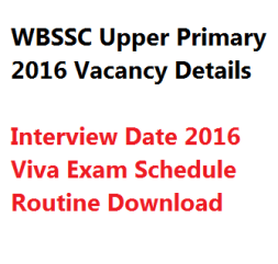 wbssc upper primary tet interview viva date exam routine schedule download 1st slst teacher vacancy admit card call letter