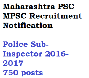 mpsc maharashtra vacancy police si sub inspector recruitment notification download advertisement