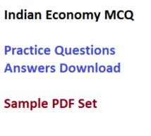 indian economy mcq sample questions answers practice paper set pdf download syllabus economics