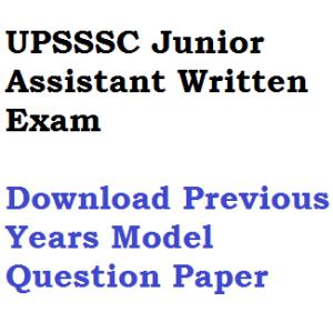 upsssc junior assistant jr asst previous years model solved question paper download pdf ja clerk jc old last