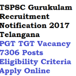 TSPSC PGT TGT Recruitment 2018 Gurukulam 7306 Posts Eligibility