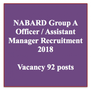 nabard assistant manager recruitment 2018 vacancy application form online group a officer bank jobs rdbs