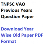 tnpsc vao previous years question paper download fully solved last years old mcq objective tamil nadu psc village administration officer recruitment written test exam