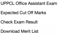 uppcl office assistant result 2017 2018 cut off marks merit list exam expected cut off marks oa grade 3 stenographer