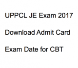 uppcl je admit card 2017 exam date download hall ticket publishing starting schedule time upptcl junior engineer electrical