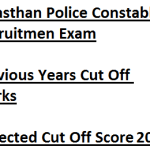 Rajasthan Police Constable Cut Off Marks 2017 Expected Score Written