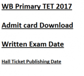 wb primary tet admit card download 2017 expected exam date written test wbbpe www.wbbpe.org teacher elgibility test class 1 to 5 west bengal