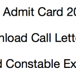 ITBP Head Constable Admit Card 2017-18 Download Exam Date HC