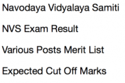 nvs result 2017 2018 navodaya vidyalaya samiti merit list expected cut off marks non teaching posts ldc lower division clerk storekeeper lab attendant staff nurse