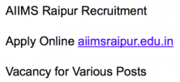aiims raipur recruitment 2017 2018 notification advertisement application form vacancy hospital lab attendant
