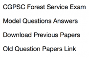 cgpsc forest service exam previous years question psper download solved old questions answers set practice sample pdf solved with answer key last chhattisgarh psc