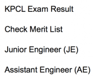 kpcl result 2017 2018 exam result merit list expected cut off marks qualifying score assistant engineer ae junior engineer je civil mechanical electrical karnatakapower.com karnataka power corporation limited