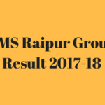 AIIMS Raipur Result 2017-18 Group C Staff Nurse Attendant Cut Off Merit List