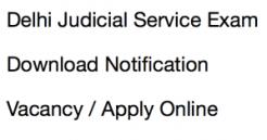 delhi judicial service exam 2018 recruitment notification vacancy application form jobs eligibility criteria application