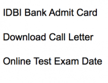 idbi bank executive admit card 2018 download call letter online test exam date cbt computer based hall ticket download