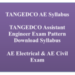 TANGEDCO AE Syllabus 2018 Electrical Civil Assistant Engineer Exam Pattern Selection Process