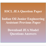IOCL JEA Previous Question Paper Junior Engineering Assistant PDF
