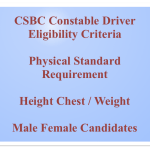 Bihar Police Constable Driver Eligibility Criteria Physical Requirement CSBC