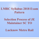 LMRC Syllabus 2018 Pattern Download Lucknow Metro JE Maintainer