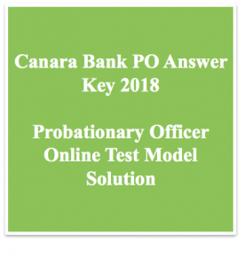 canara bank po answer key download 2018 exam online test expected solution model solved paper held on 4-03-2018 4th march