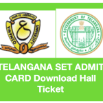 TS SET Hall Ticket 2018 Download Admit Card Telangana SET 25 June