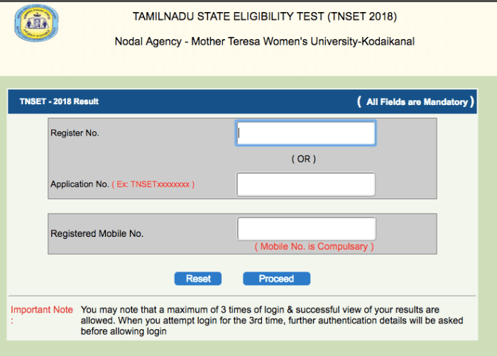tnset result 2018 how to check tamil nadu set mtwu