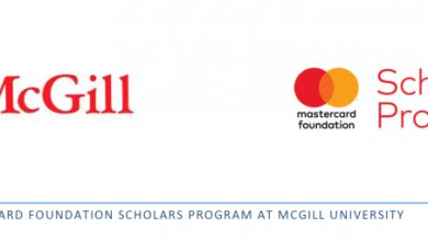 Photo of MasterCard Foundation Scholars Program 2020 at McGill University in Canada