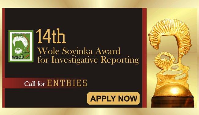 Wole Soyinka Award for Investigative Reporting 2019 jobsandschools