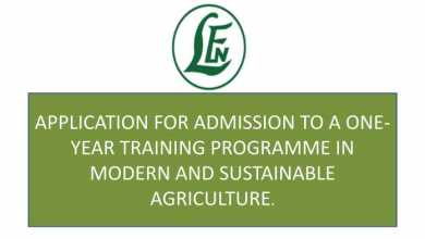 Photo of Leventis Foundation (Nigeria) One-Year Training Programme 2019/2020 in Modern and Sustainable Agriculture (Fully Funded)