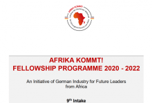 Photo of The AFRIKA KOMMT! fellowship programme 2020/2022 for Future Leaders from Sub-Saharan Africa (Fully Funded to Germany)