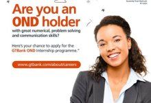 Photo of Guaranty Trust Bank (GTB) Internship Programme 2019/2020 for Nigerians