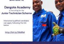 Photo of Dangote Academy Junior Technician Scheme 2020