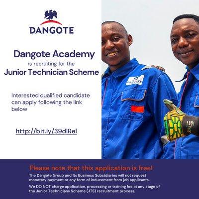 dangote-academy-junior-technician-scheme-2020