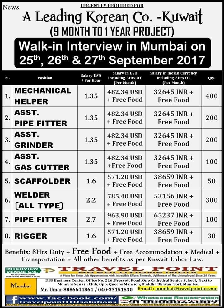 Koc Project Job Vacancies For Kuwait