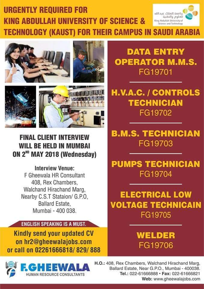Latest Gulf Jobs Vacancies For Fresher Good Skilled - Inspirational