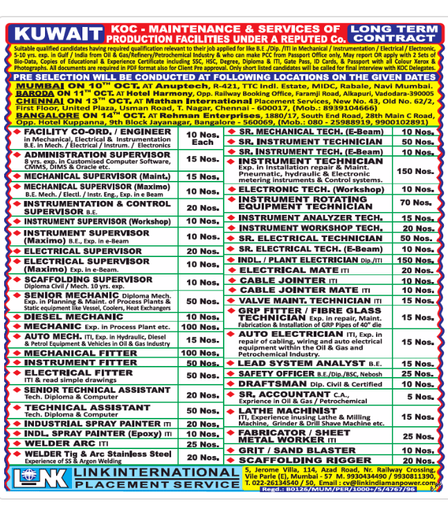 Kuwait Job Vacancies Jobsatgulf Org February 28 2019 Jobs