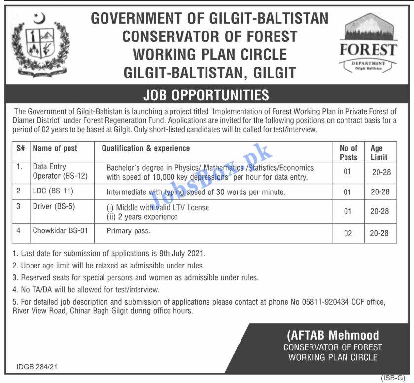 Forest Department Gilgit Baltistan Jobs 2021 Latest