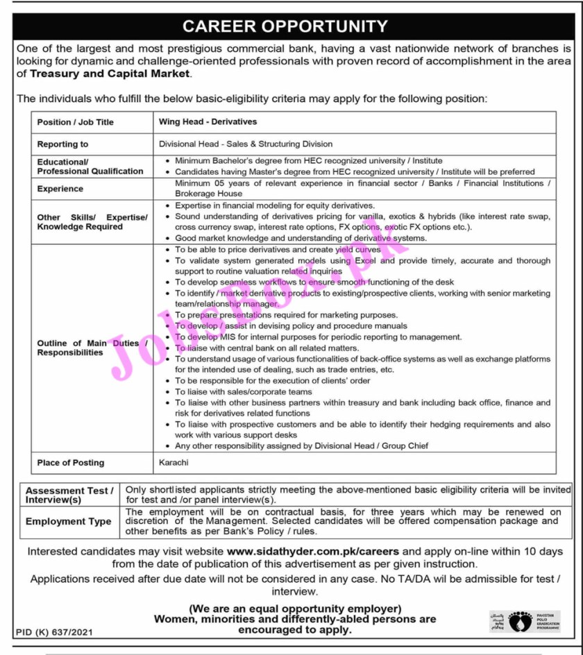 Jobs in Private Bank